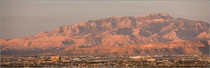 лас, вегас, горы, закат Вегас закатphoto preview