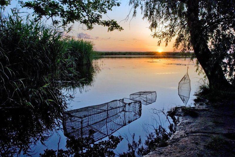 пейзаж, лето, июнь, рыбалка, утро, рыбака, река, днепр, lad_i_mir Утро рыбакаphoto preview