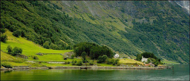 norway, bakka, neroyjord Neroyfjord. Bakka.photo preview