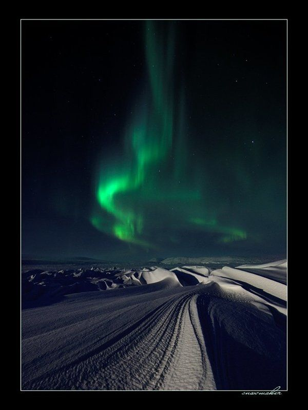 фото, чукотка, снег, photo, chukotka, snowmaker, северное сияние, полярное сияние, polar light Ночной костерphoto preview