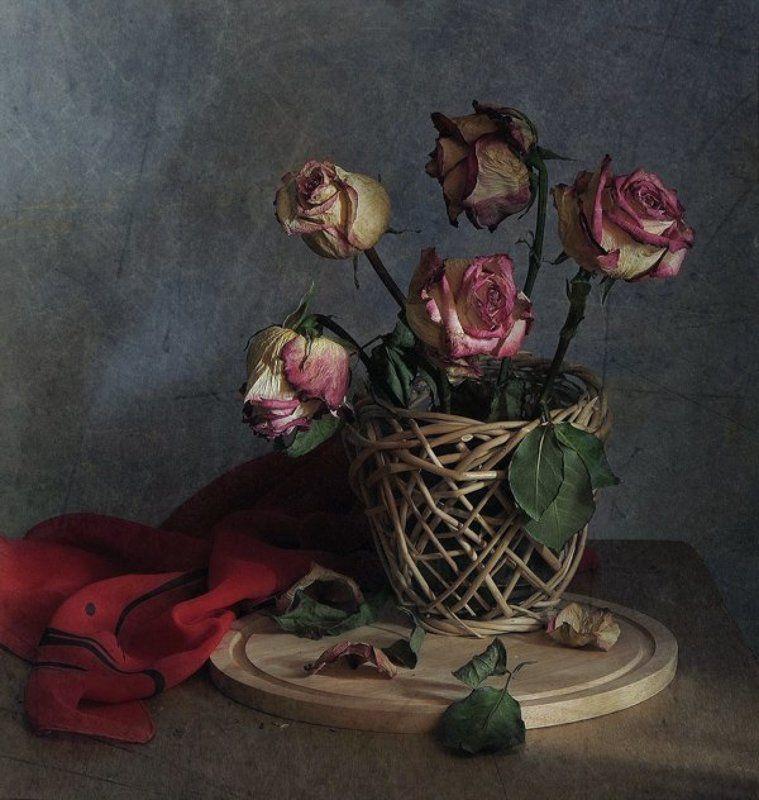 Засохшие, Натюрморт, Неумолимое  время, Розы Было ...и прошлоphoto preview