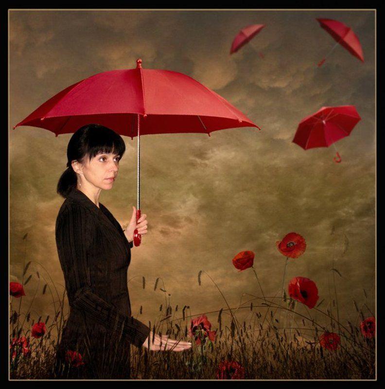 Красные зонтики...photo preview
