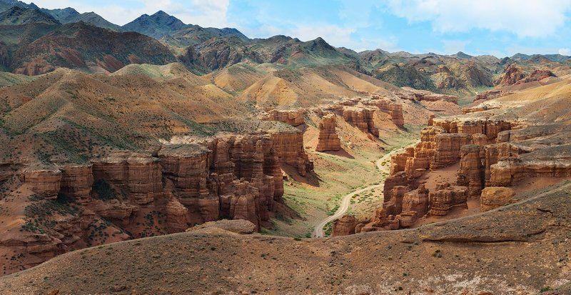 landscape, казахстан, пейзаж, чарын, чарынский каньон Морщинка Землиphoto preview