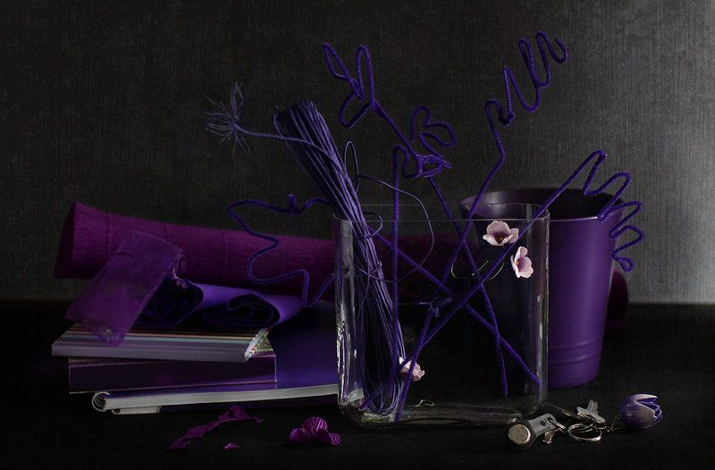 натюрморт Про фиалковый, или Кому фиолетовоphoto preview