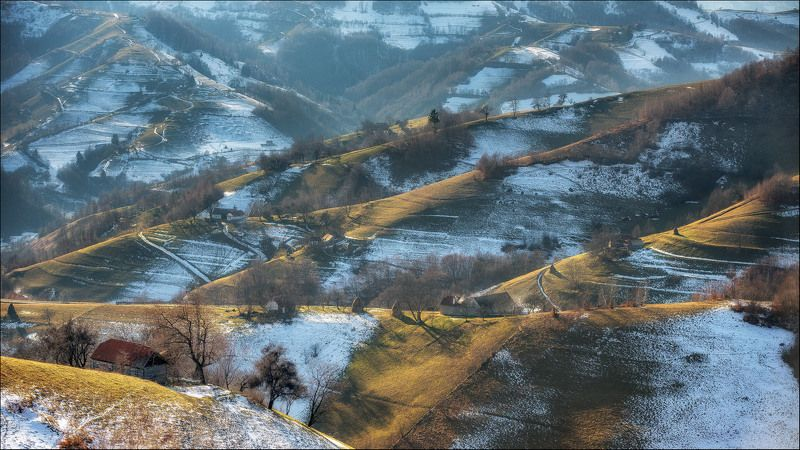 Hills, Nature, Romania, Transilvania, Travel Farming on the hillsphoto preview