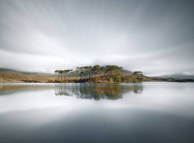 Co.Galway, Connemara, Derryclare Lough, Ireland, Long exposure, Morning, Mountains, Reflection, Trees Derryclare Loughphoto preview