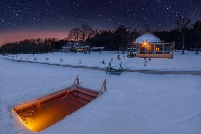 баня, зима, ночная съемка, прорубь Как я провел вечер пятницыphoto preview