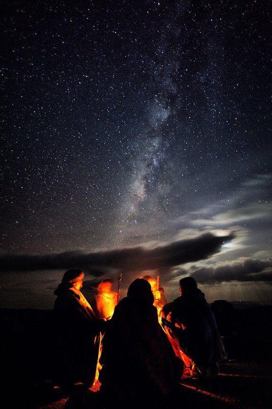 звезды, костер, млечный путь, ночь, огонь, пастух, симиен, эфиопия Пастухи у костра в Симиенских горах. Эфиопияphoto preview
