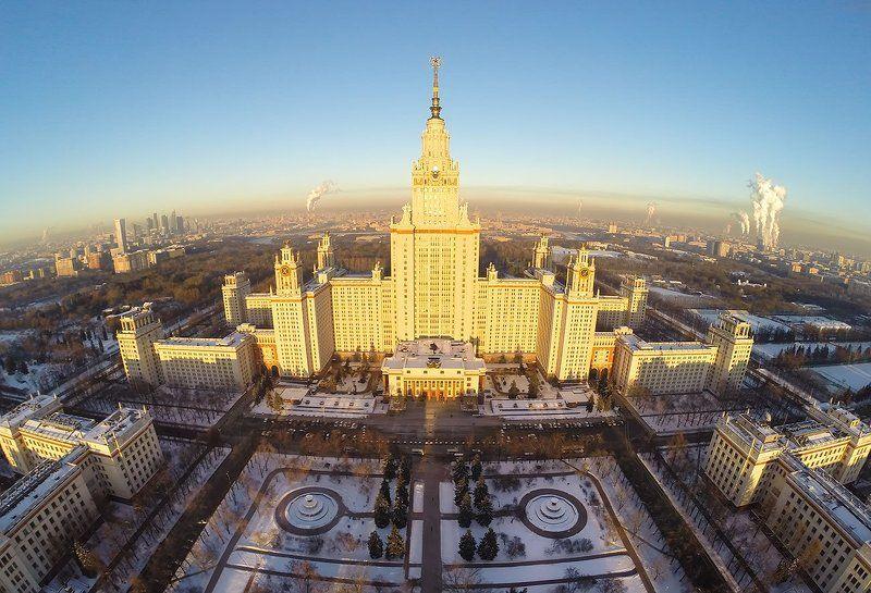 Закат, Мгу, Москва Московский Государственный Университетphoto preview
