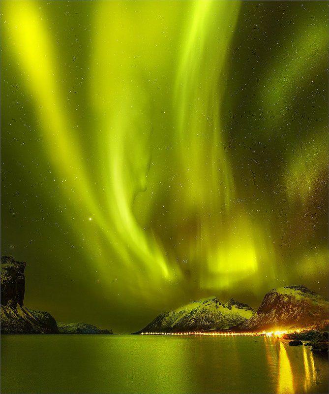 норвегия Норвежское Сияниеphoto preview