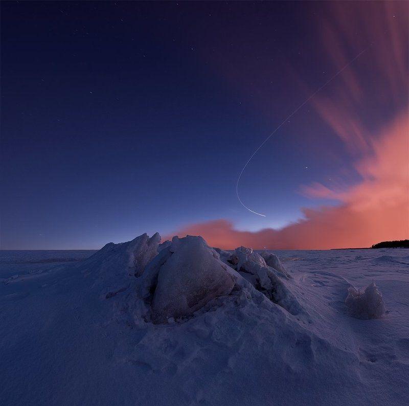 весна, Длинная выдержка, закат, сумерки, торосы, финский залив ~120~photo preview