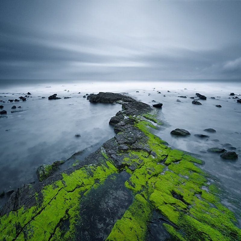 Atlantic Ocean, Green, Long exposure, North Coast, Northern ireland, Stones North Coastphoto preview