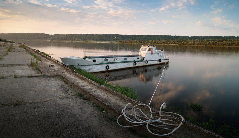 ока, корабли, баржи окское)photo preview