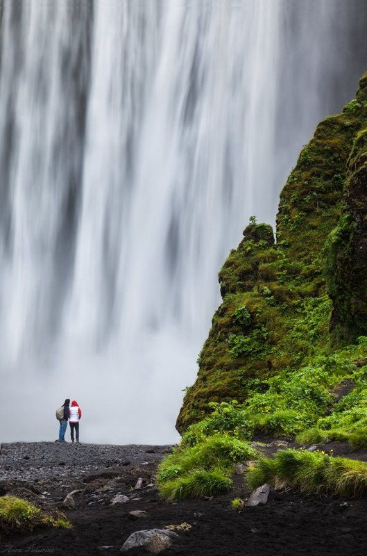 Iceland, Skogarfoss, Водопад, Исландия, Лето, Скогафосс Сила природыphoto preview