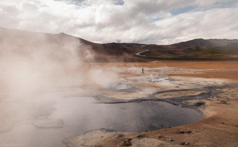 Iceland, Исландия, Источники, Пейзаж, Термальные В термальной зонеphoto preview