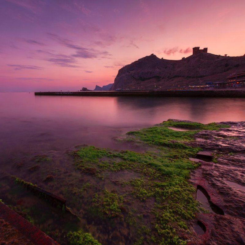 1х1, nd, nd 8, генуэзская крепость, закат, крым, море, судак, черное море С бун не прыгать!photo preview