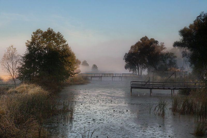 Река, Утро туман Утроphoto preview