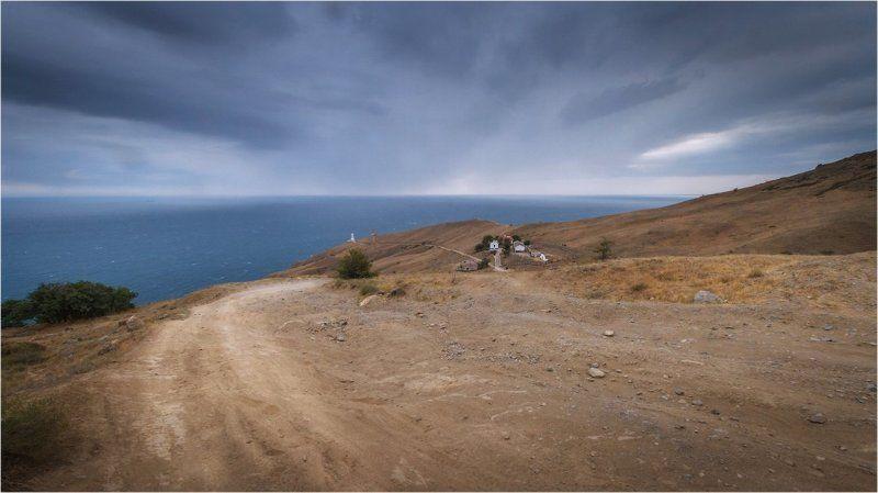 2012, Белый, крым, Маяк, меганом, Море, мыс, Черное море белый маячокphoto preview
