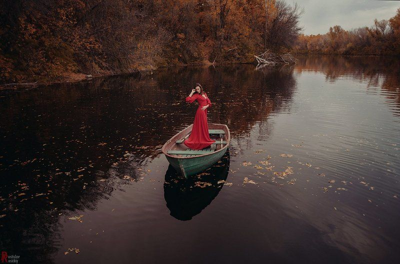 Девушка, Озеро вода deep waterphoto preview
