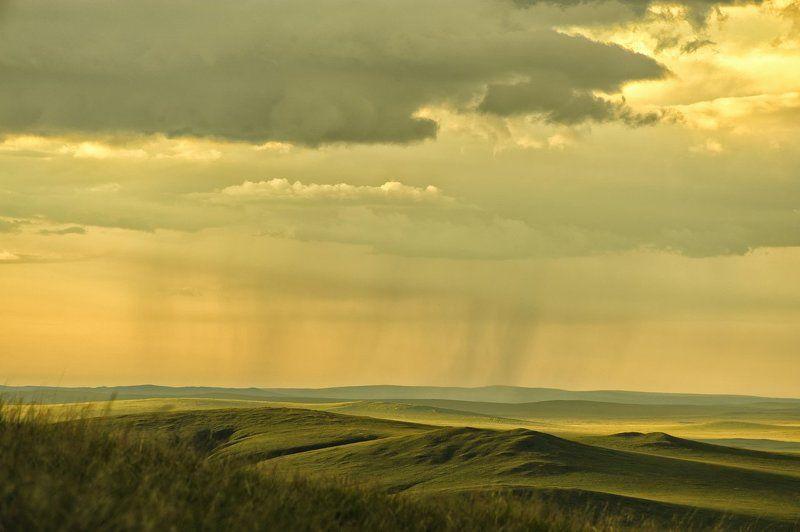 Вечер, Дождь, Забайкальский район, Посёлок Билитуй, Россия, Сибирский федеральный округ, Сопки Где то далеко идут дожди.photo preview