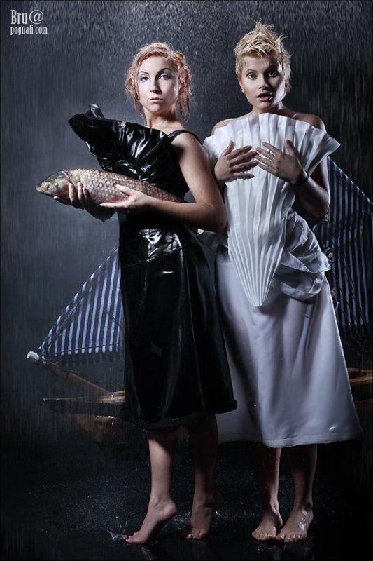 pretty burn, рыба, парусник, девушки, дождь Приливыphoto preview