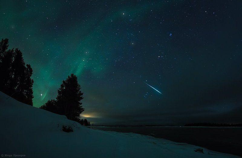 Геминиды, Кольский полуостров, Метеор, Метеорный поток Метеорный поток Геминид.photo preview