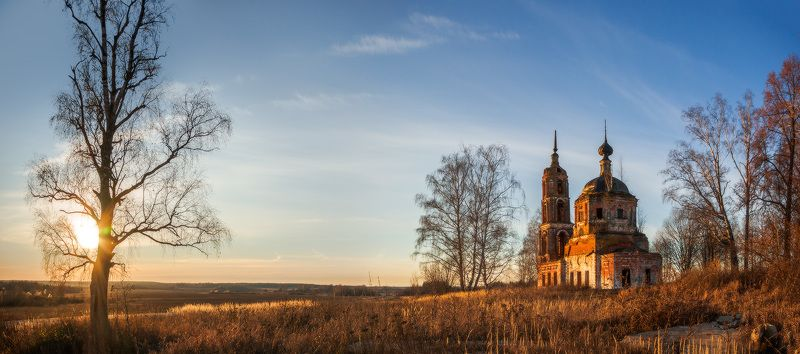 Осень, Церковь На закатеphoto preview