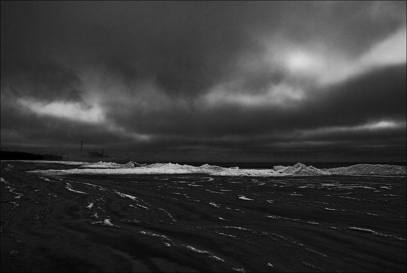 Зима. Вечер. Берег Финского заливаphoto preview