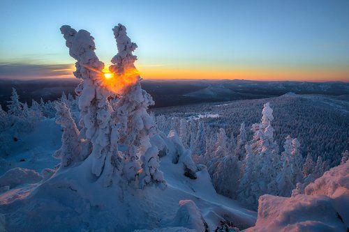 зима в уральских горах фото нашем сайте найдете