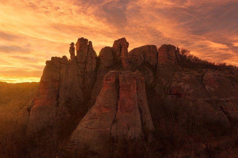 11-16, 60D, Belogradchik, Belogradchik rocks, Bulgaria, Canon, Clouds, Dramatic, Fire, Glow, Landscape, Nature, Orange, Rocks, Sky, Sunset, Tokina Fire in the skyphoto preview