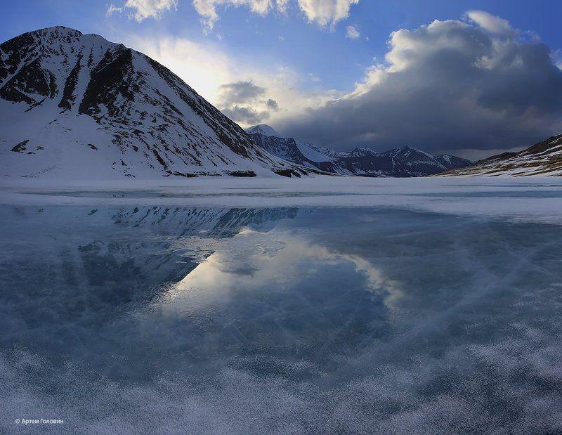 Джанкуль, лед, алтай На озере Джанкульphoto preview