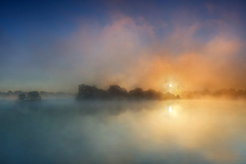 Fog, Morning Morning auroras II ...photo preview