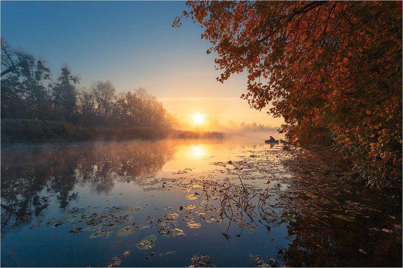рассвет, река photo preview