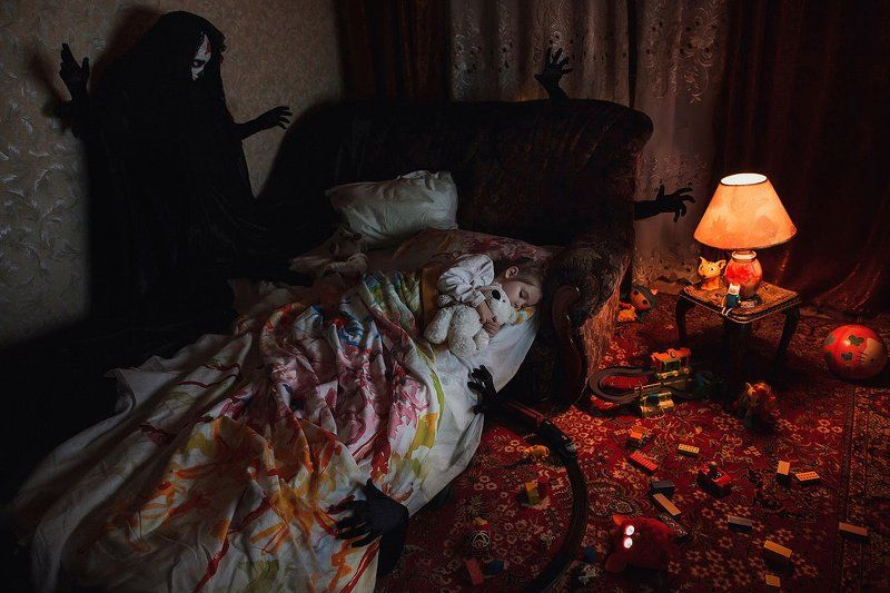 Dark, Fine art, Girl, Mikebatenev, Photo, Portrait, Toys \