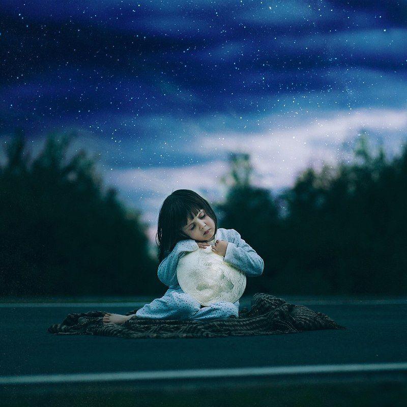 Fine art, Mikebatenev, Night, Photo, Portrait, Stars, Vlada \