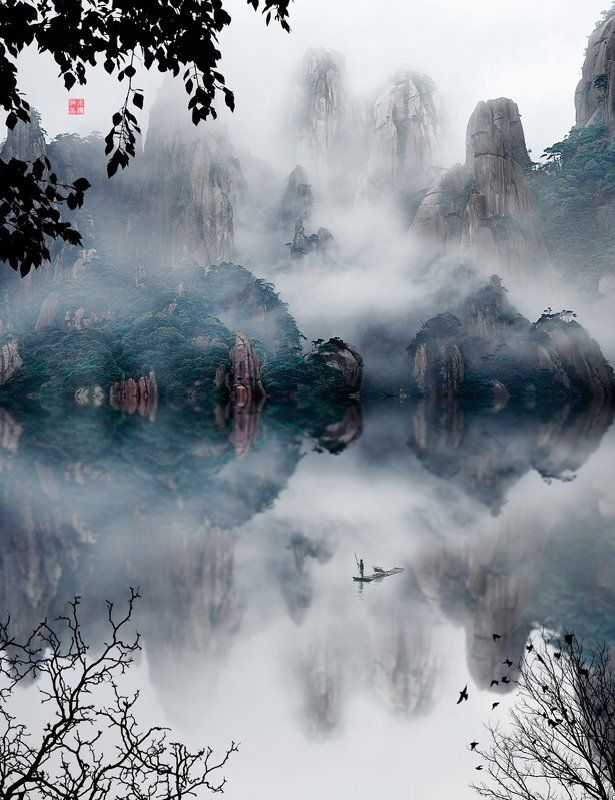 Chinese ink landscape paintingphoto preview