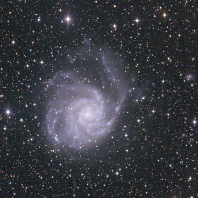 астрономия, небо, ночь, звёзды, гала M 101photo preview