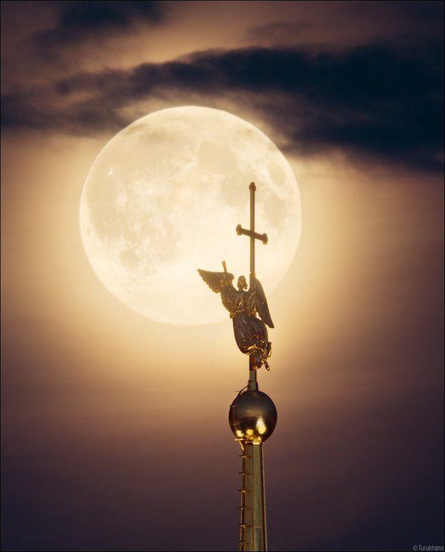 Ангел, Затмение, Луна, Петербург, Суперлуние, Супертеле Суперлуние и затмениеphoto preview