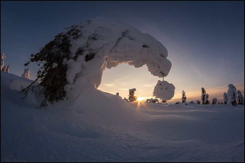 Зима, Кольский полуостров Зимние причуды.photo preview