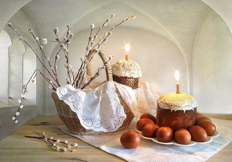 праздник,пасха, корзина,верба,яйца,свечи С праздником Светлой Пасхи!photo preview