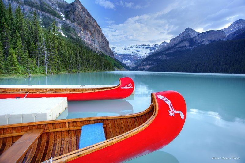 Lake, summer, tranquility, evening, boats, nature Tranquility photo preview