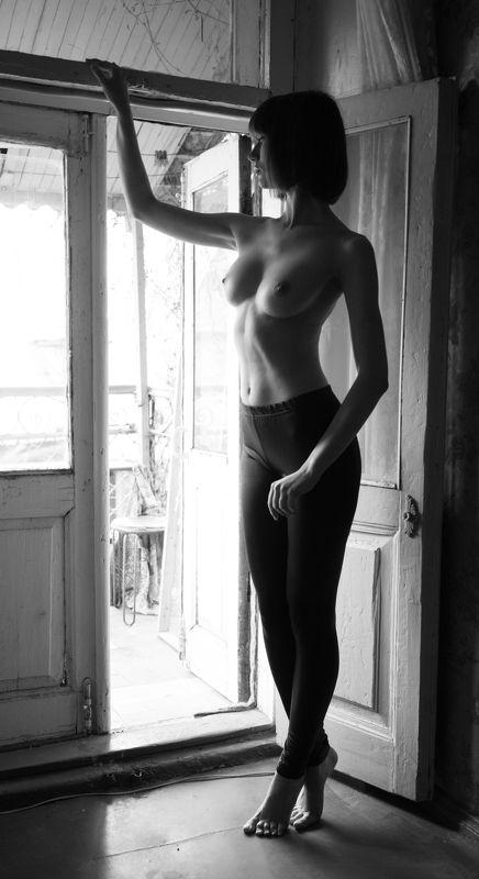 девушка , ню ,  nude , ч.б. , Кристинаphoto preview