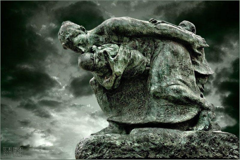 япония, хиросима, памятник, мать, дети Матьphoto preview