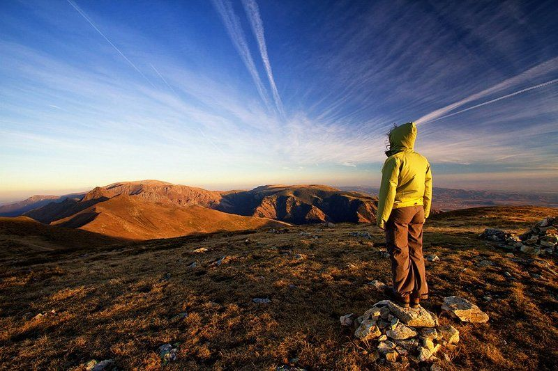 mountain , Bulgaria , people , sunset Central Balkanphoto preview