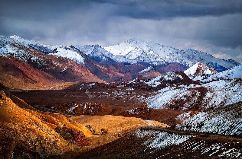 горы, памир, таджикистан, средняя азия, перевал, снег Седой Памир. Вид с перевала Акбайталphoto preview