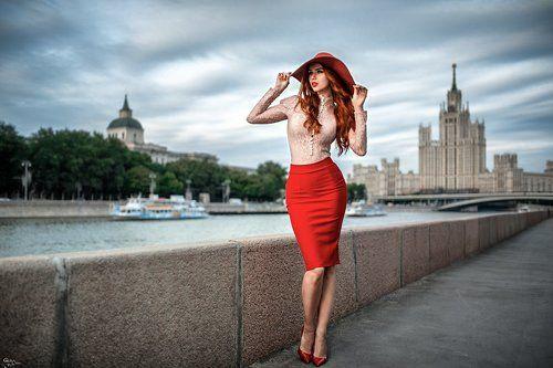 фото красивых девушек на улицах москвы