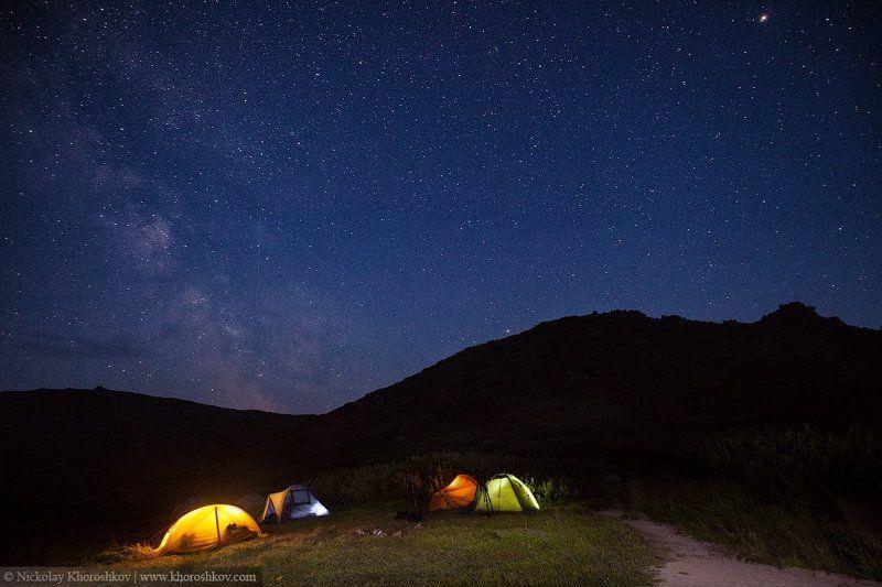 Carpathian mountains, Night, Nightscapes, Ukraine, Карпаты, Ночная съемка, Ночной пейзаж, Украина Отель под звездамиphoto preview