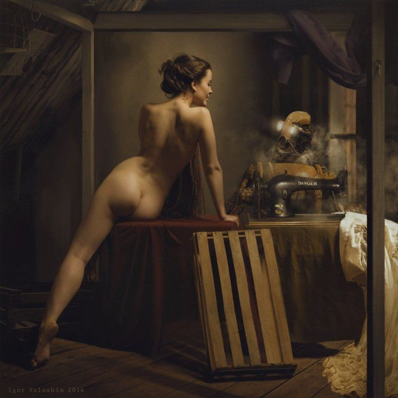 Igor Voloshin, Voloshin, computer art, nude, girl embarrassmentphoto preview