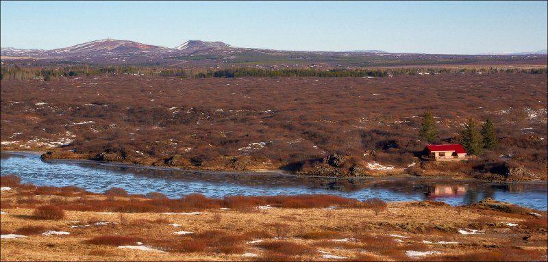 Исландия пейзаж тундра река Исландская тундра.photo preview