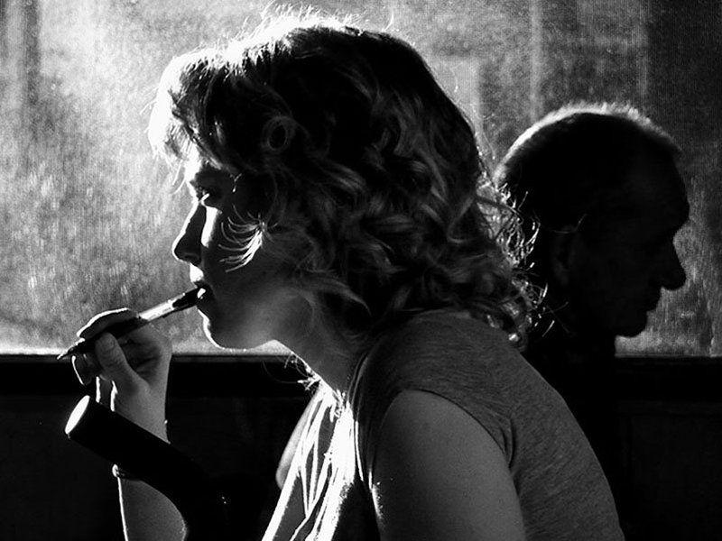 двое, кафе, мужчина, женщина Double Portraitphoto preview